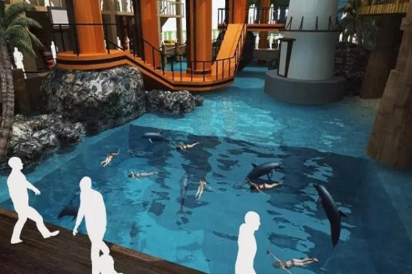 三亚海洋科技馆·鲸世界工程顺利封顶